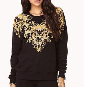 Gold black Sweat shirt